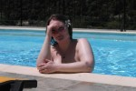 Free porn pics of Wife Kayla - Skinny dipping in the pool 1 of 47 pics