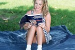Free porn pics of Sydney Moon - Reading in the Park 1 of 105 pics