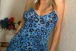 Free porn pics of Dodger Nylons Print Dress 1 of 45 pics