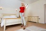 Free porn pics of Sandra Star red top and jeans 1 of 137 pics